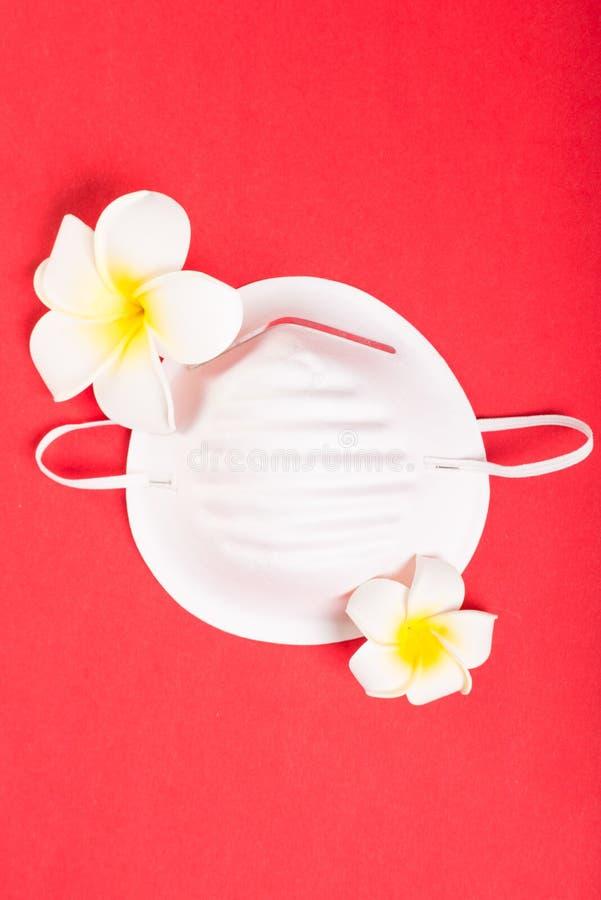 Один лицевой щиток гермошлема на розовой предпосылке с экзотическими цветками стоковое фото rf