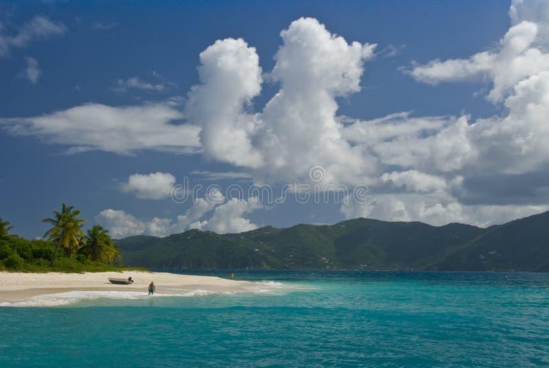 один пляж стоковая фотография rf