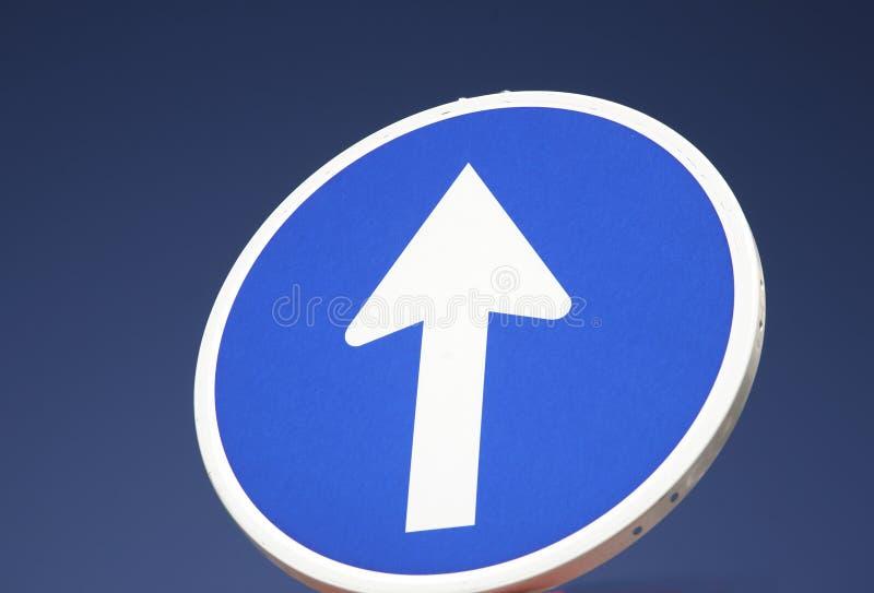 один путь улицы знака стоковое фото rf