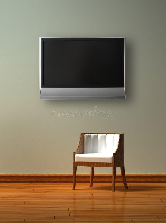 один стул lcd tv иллюстрация штока