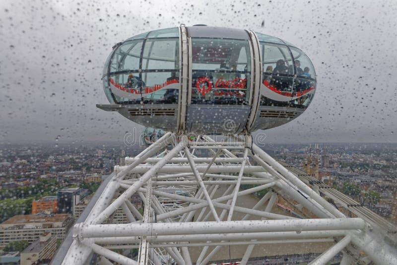 Одна из капсул глаза Лондона стоковая фотография