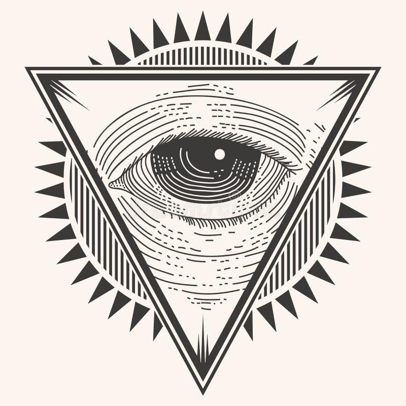 Одна иллюстрация вектора значка глаза иллюстрация штока