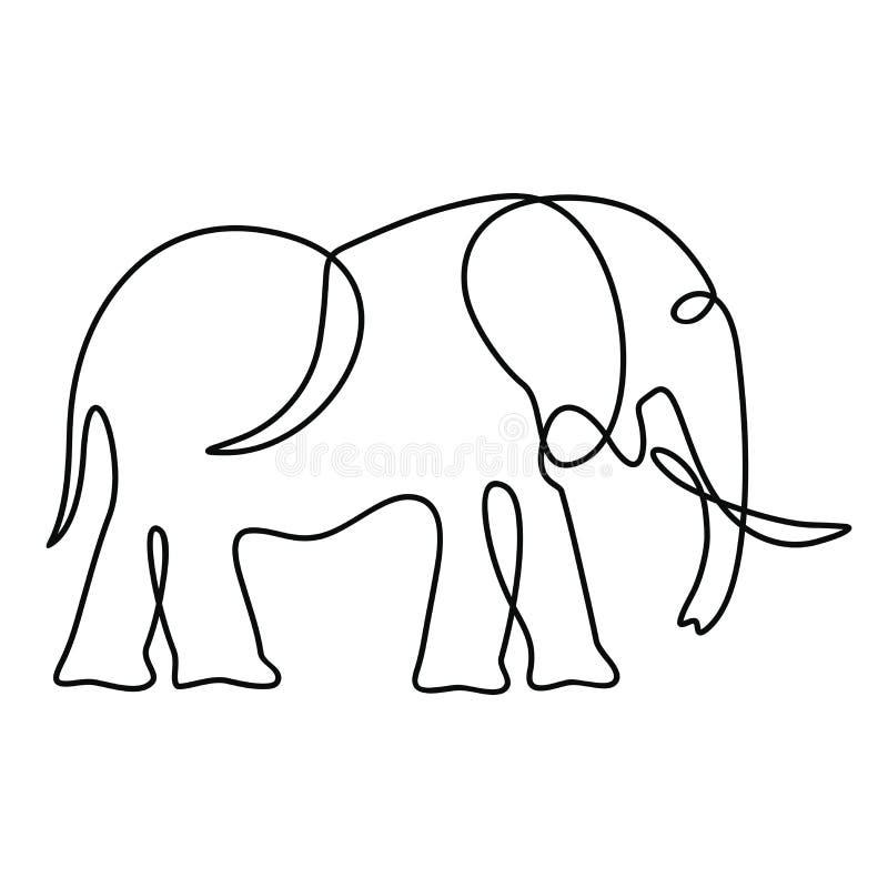 Одна линия чертеж иллюстрация вектора