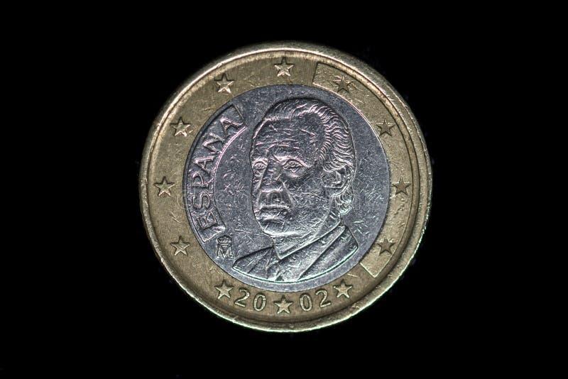 Одна монетка евро, часть задней части стоковая фотография
