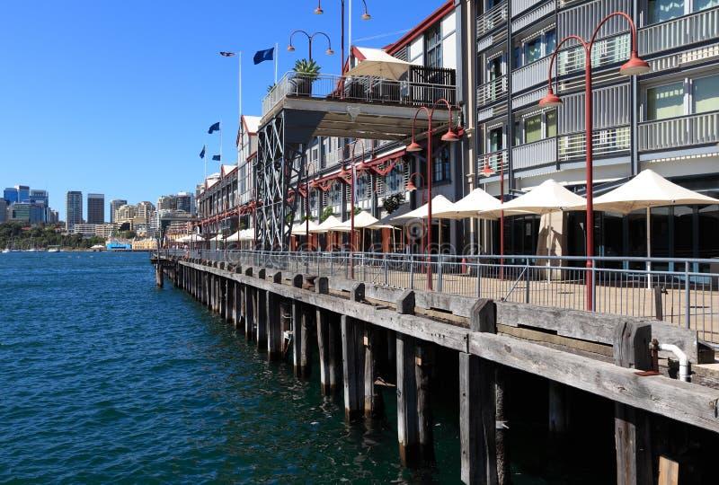 одна пристань Сидней стоковое фото