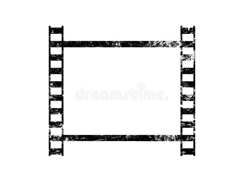 Одна старая винтажная рамка ретро filmstrip иллюстрация вектора