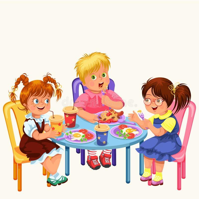 Обед в детском саду в картинках