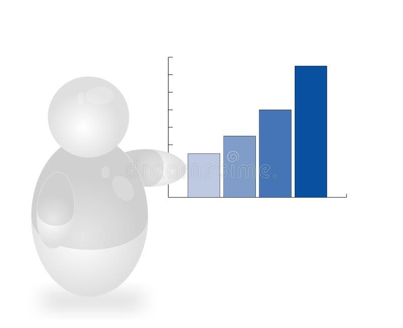 однолетний положительный рапорт иллюстрация вектора