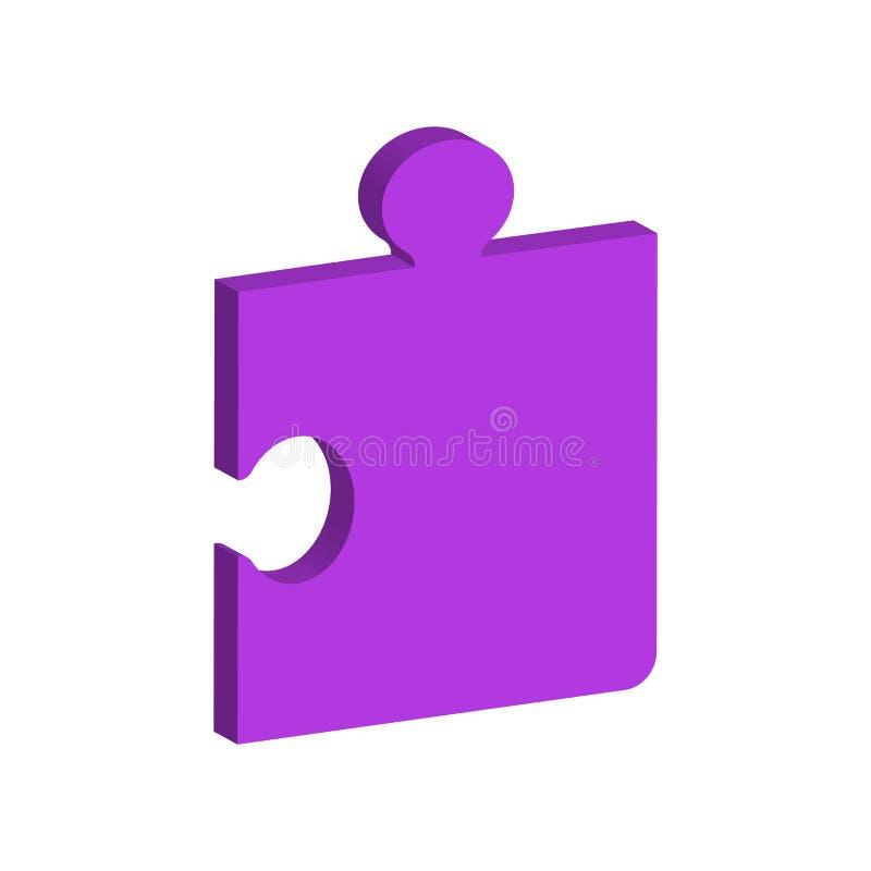 Одноразмерная часть головоломки иллюстрация штока