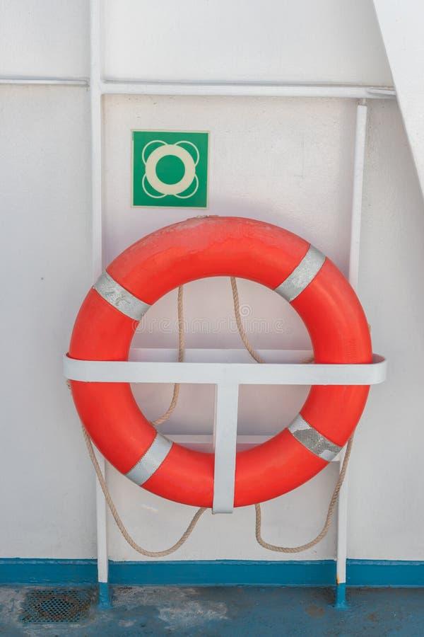 Одно оранжевое кольцо жизни стоковое изображение rf