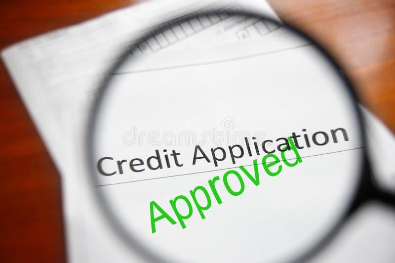 одобренный кредит стоковая фотография rf