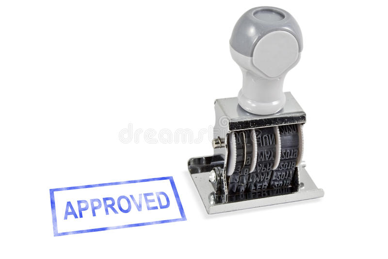 одобренный штемпель стоковое изображение rf