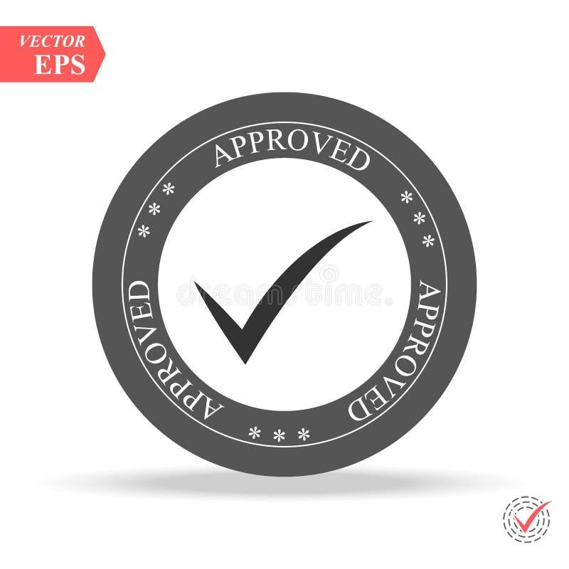 одобрено штемпель стикер уплотнение знак круглого grunge винтажный черный одобренный иллюстрация вектора