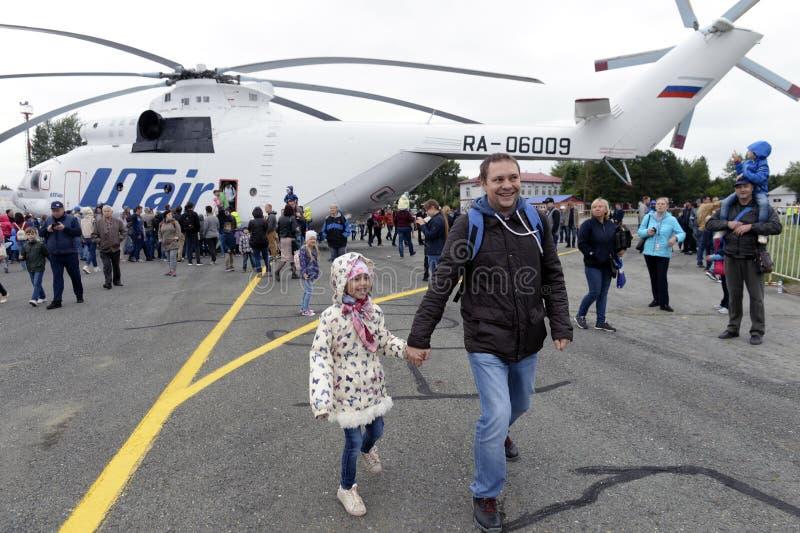 17-ое августа 2018, Россия, Tyumen, авиасалон стоковое фото rf