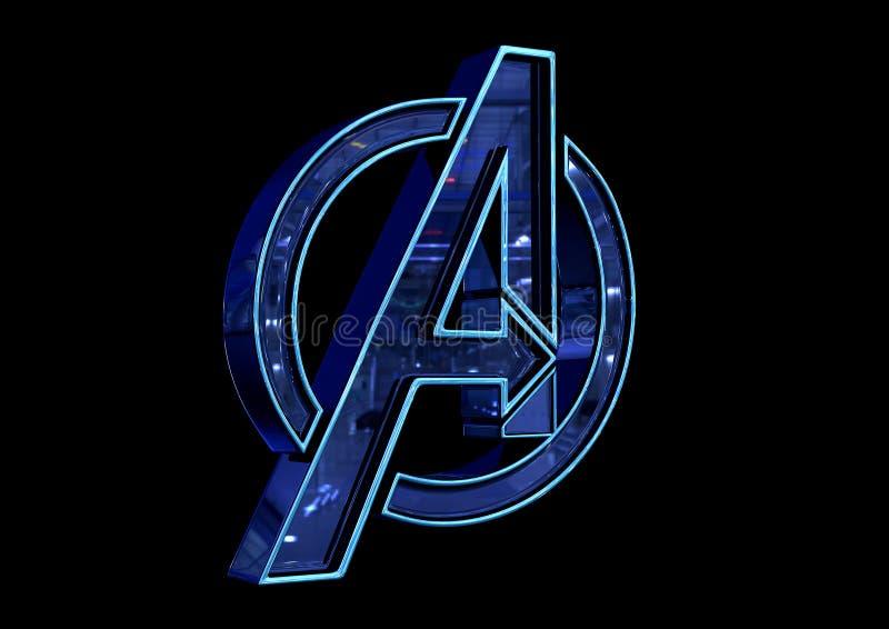8-ое апреля 2019, Бразилия Эндшпиль мстителей логотипа Эндшпиль мстителей фильм произведенный студиями чуда бесплатная иллюстрация