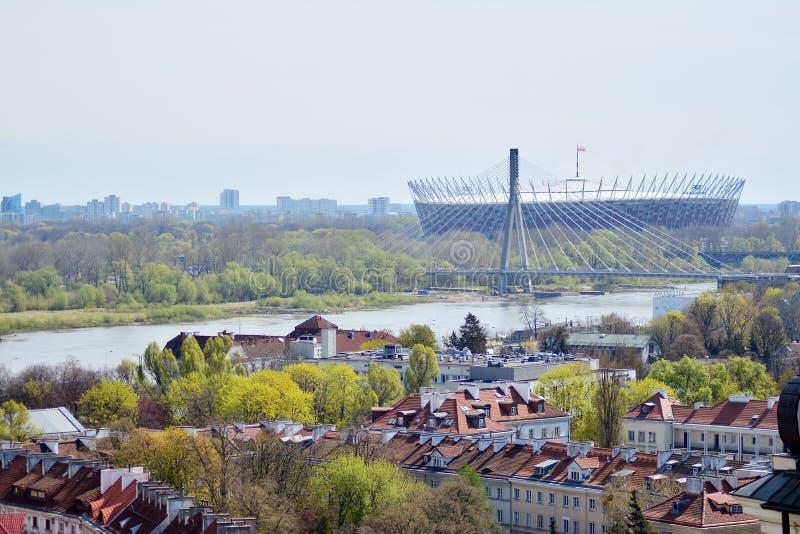 Вид с воздуха городка Варшавы старого стоковая фотография