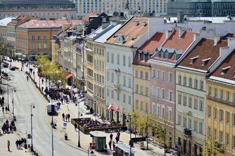 Вид с воздуха городка Варшавы старого стоковое изображение