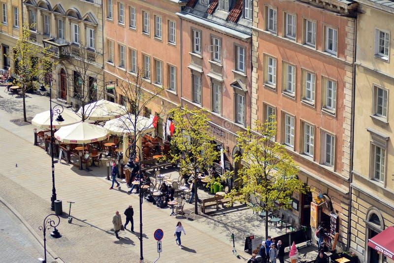 Вид с воздуха городка Варшавы старого стоковая фотография rf