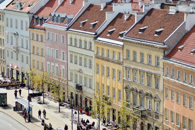 Вид с воздуха городка Варшавы старого стоковое изображение rf