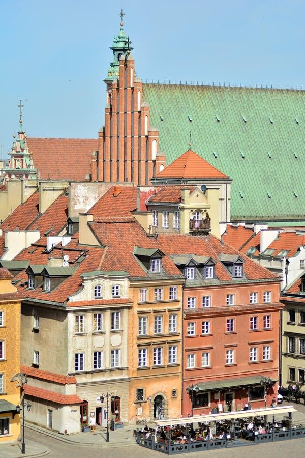 Вид с воздуха городка Варшавы старого стоковые фото