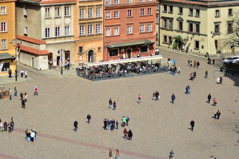 Вид с воздуха городка Варшавы старого стоковые изображения rf