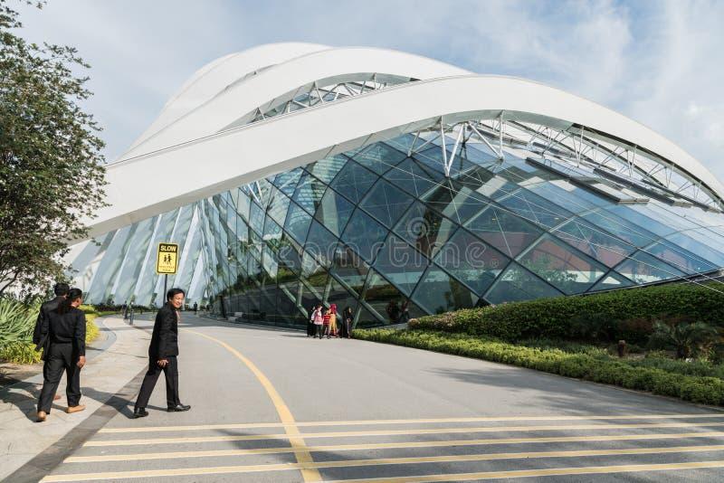 8-ое декабря 2016 Сингапур здание в садах парка стоковое фото rf