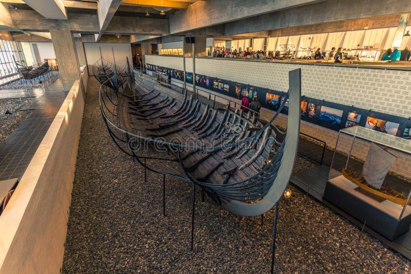 4-ое декабря 2016: Сокровище музея корабля Викинга Roskild стоковая фотография