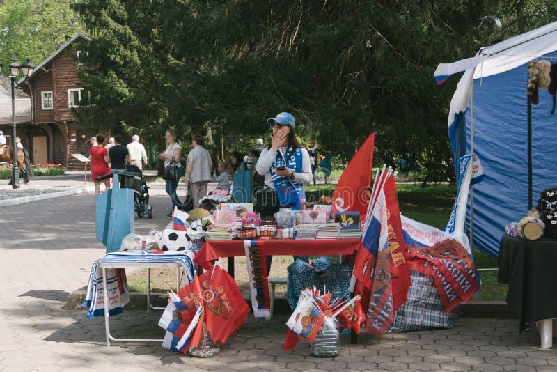 1-ое из торжеств в мае в Калининграде, России стоковые фотографии rf
