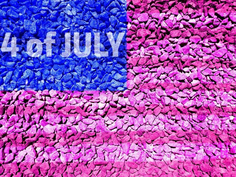 4-ое июля на флаге Соединенных Штатов бесплатная иллюстрация