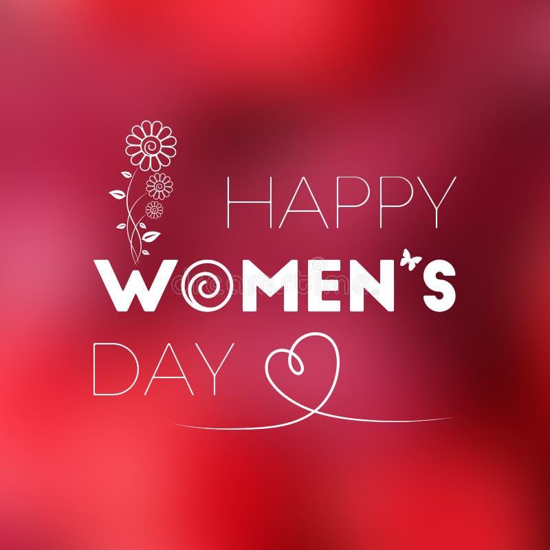 8-ое марта женщины дня международные s иллюстрация вектора