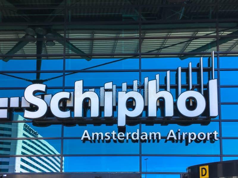 15-ое мая 2018 Авиапорт Schiphol, Амстердам, Нидерланды стоковые изображения