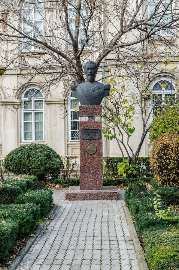 4-ое ноября 2015 Плоешти Румыния, статуя Alexandru Ioan Cuza стоковое изображение rf