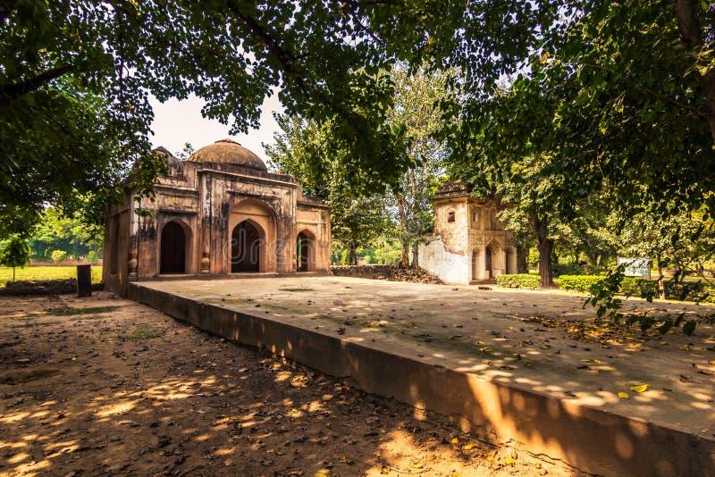27-ое октября 2014: Мечеть в саде Lodi в Нью-Дели, Индии стоковая фотография rf
