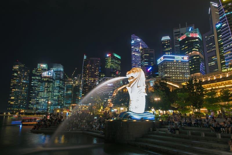 24-ое октября 2016: ориентир ориентир Сингапура стоковое фото