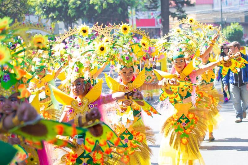 27-ое февраля 2015 Baguio, Филиппины Baguio Citys Panagbenga f стоковое изображение rf