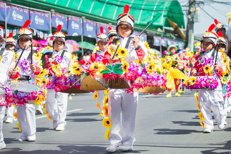 27-ое февраля 2015 Baguio, Филиппины Baguio Citys Panagbenga f стоковые фото