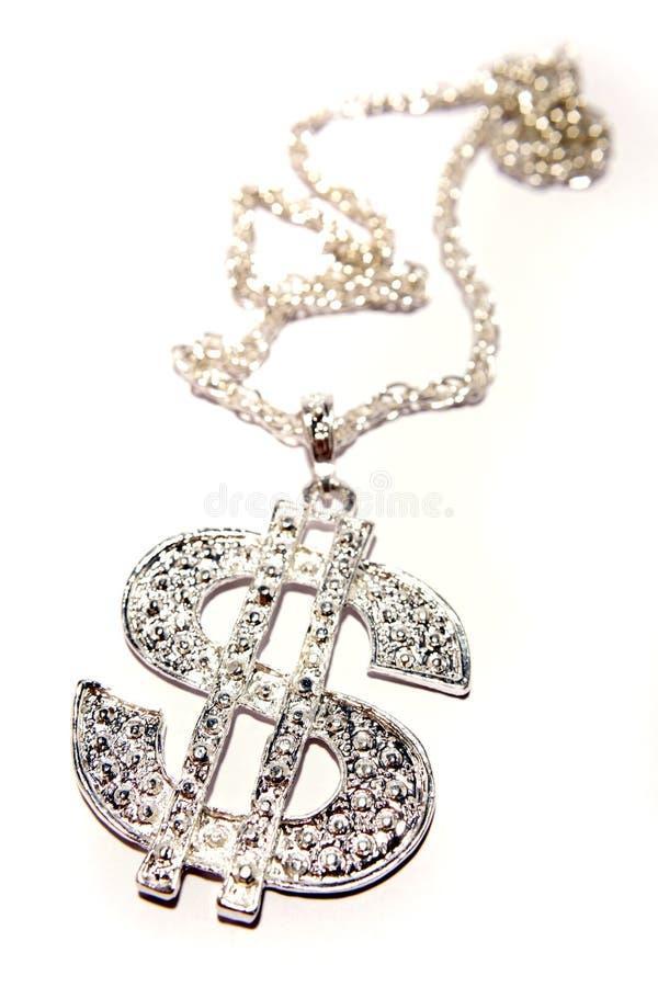 ожерелье доллара подписывает нас стоковые изображения rf