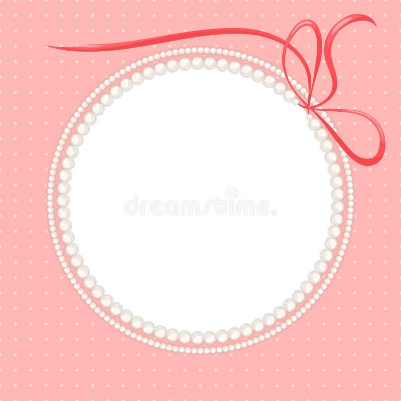 Ожерелья перлы иллюстрация штока