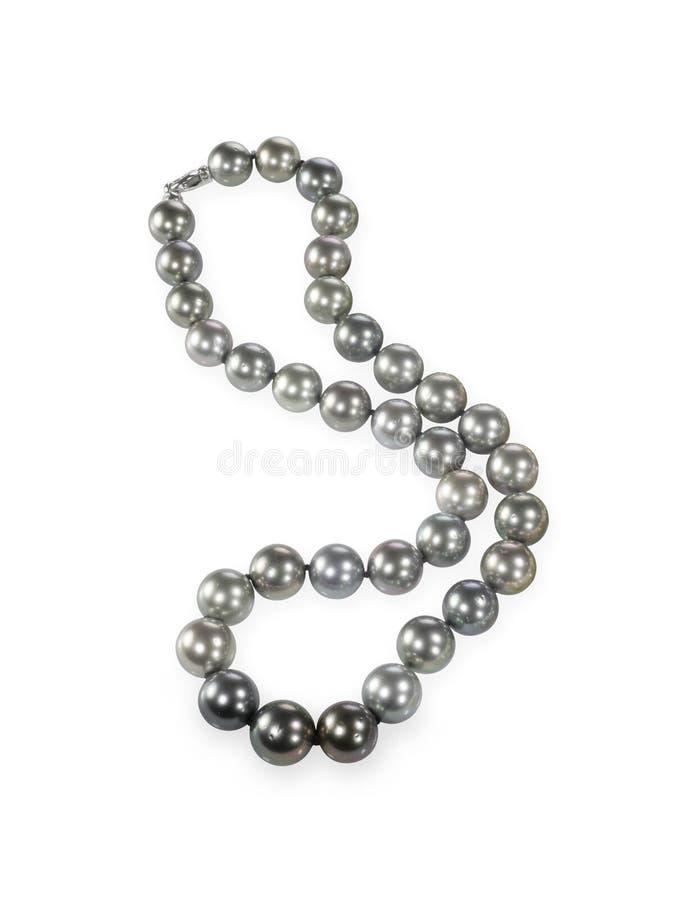 Ожерелье жемчуга черноты южного моря стоковые изображения rf