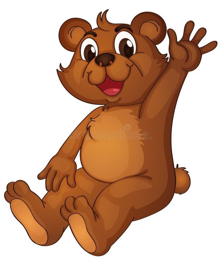 оживленный медведь иллюстрация вектора