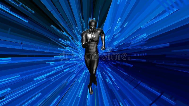 оживленный анатомический мужской модельный ход 3d сток-видео