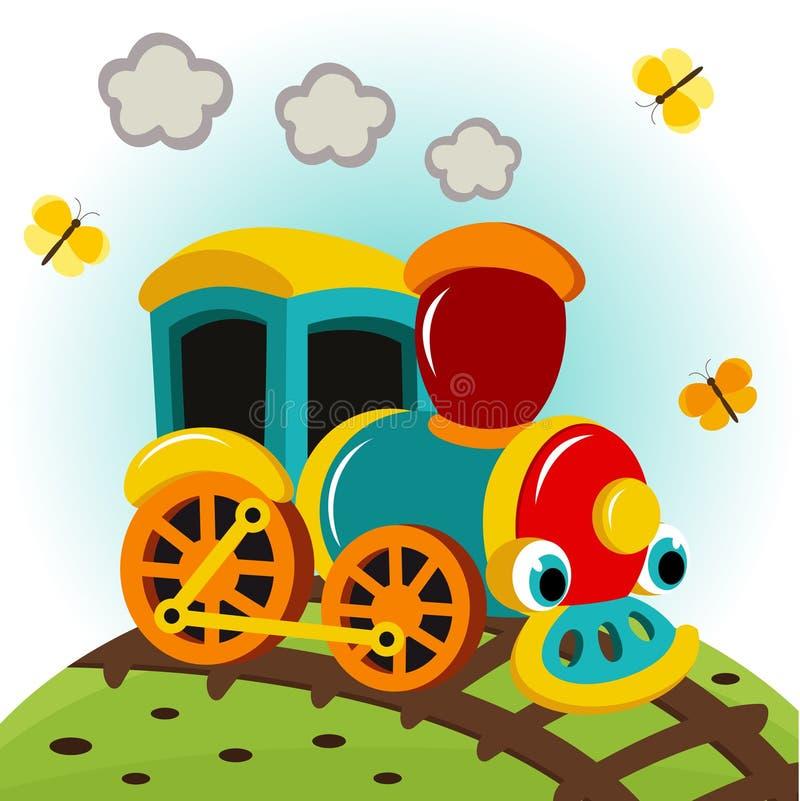Оживленный поезд иллюстрация вектора