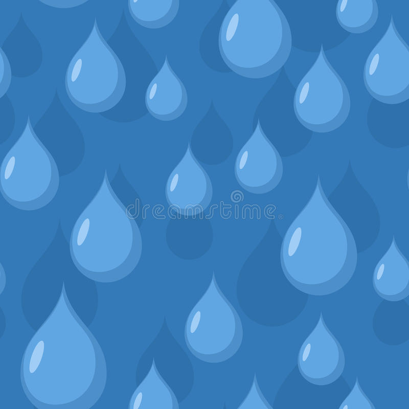 дождь картины безшовный Предпосылка вектора падений открытого моря бесплатная иллюстрация