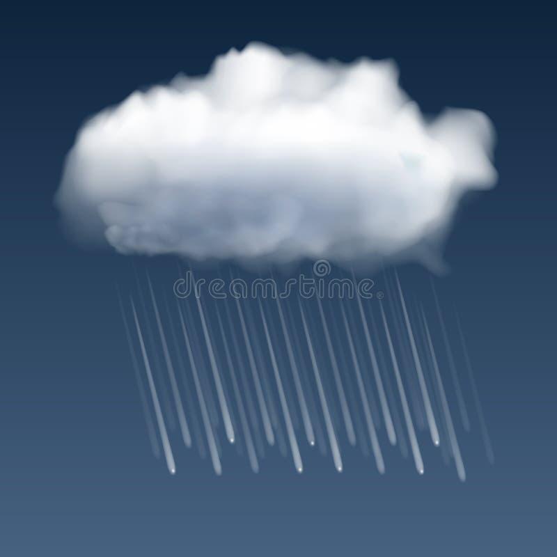 дождь облачных капель бесплатная иллюстрация