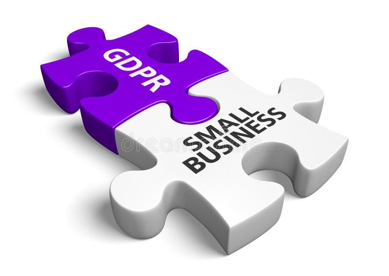 Озадачьте концепцию для решений мелкого бизнеса для того чтобы быть уступчивый с новым законом GDPR, переводом 3D бесплатная иллюстрация