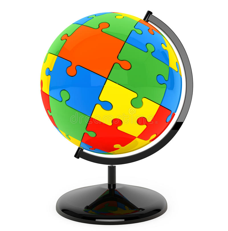 Озадачьте сферу как глобус иллюстрация вектора
