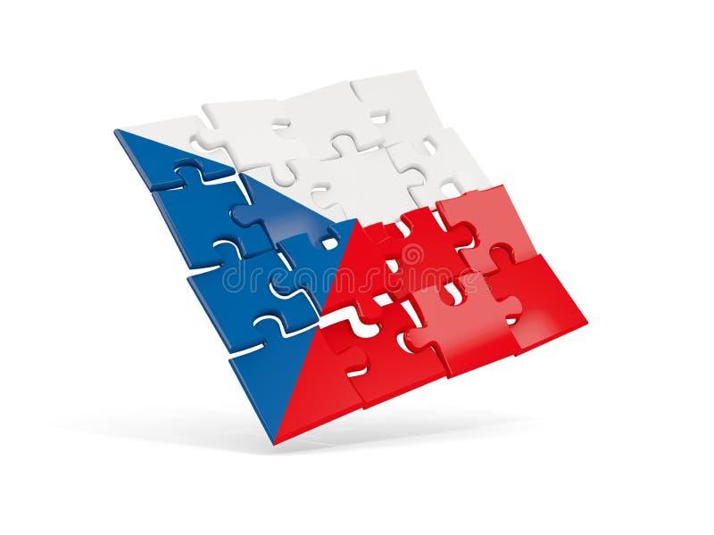 Озадачьте флаг чехии изолированный на белизне иллюстрация штока