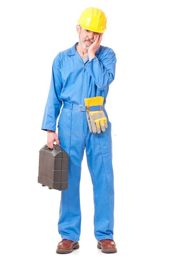 Download озадаченный работник стоковое изображение. изображение насчитывающей конструкция - 41657339