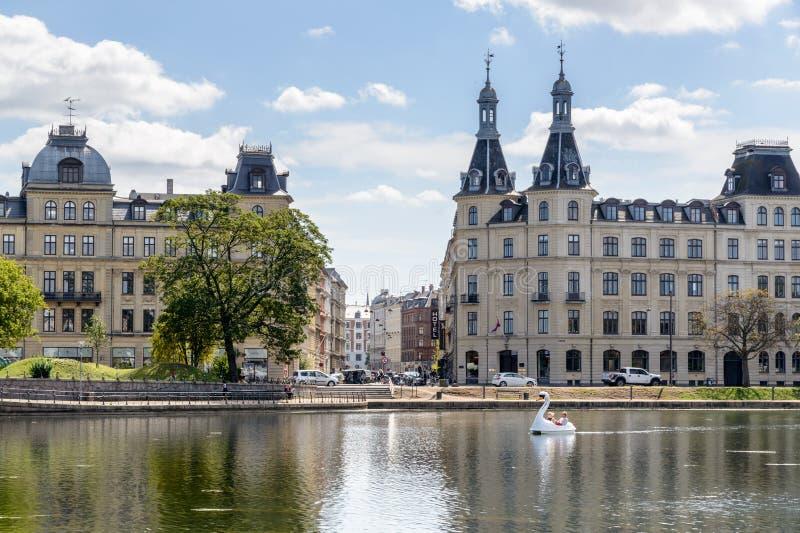 Озера, Копенгаген стоковая фотография rf