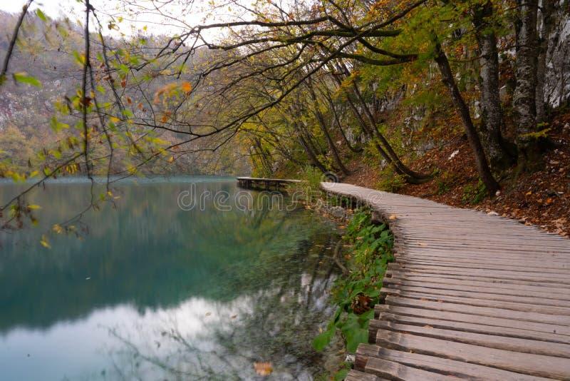 озера наследия Хорватии перечисляют мир unesco plitvice национального парка стоковое фото
